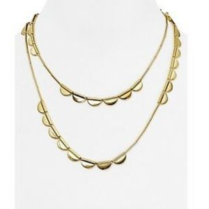 Kate Spade Sweetheart Scallop Gold Tone Necklace